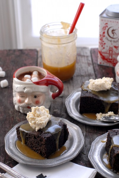 Gingerbread Cake with Butter Rum Toffee Sauce on Cool Mom Picks