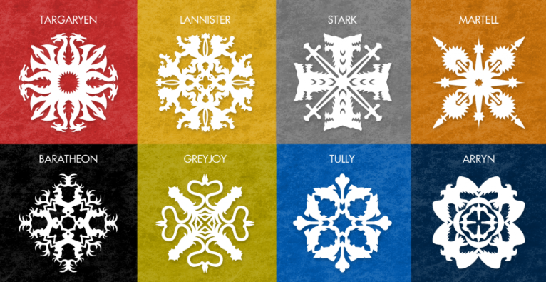 Free Game of Thrones inspired snowflake patterns | Cool Mom Picks