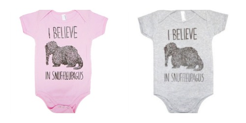 believe in snuffleupagus onesie | cool mom picks