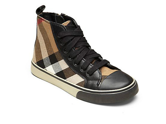 holiday gift: burberry high tops | cool mom picks