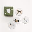 holiday gift: canine coaster set