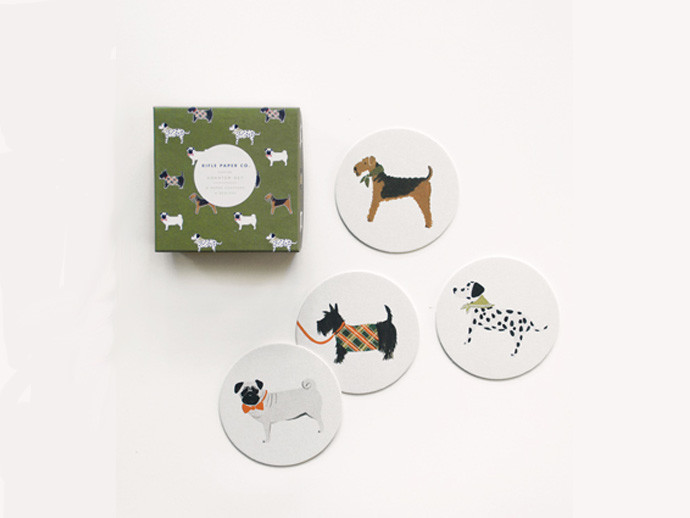holiday gift: canine coaster set | cool mom picks