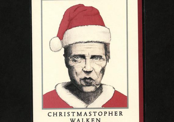 Christopher Walken Christmas card | Cool Mom Picks
