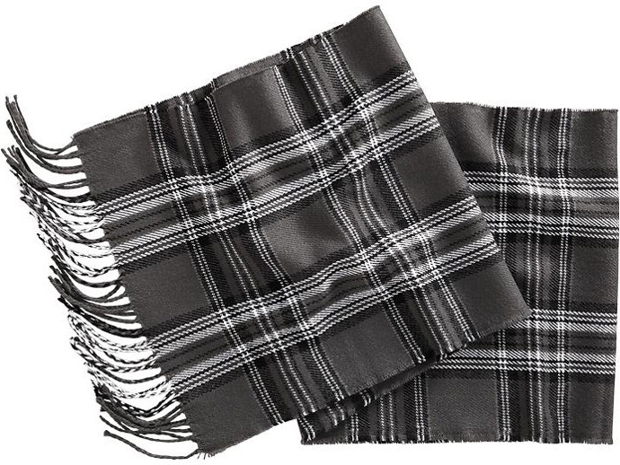 holiday gift: flannel plaid scarf | cool mom picks