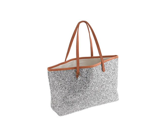 holiday gift: glitter tote