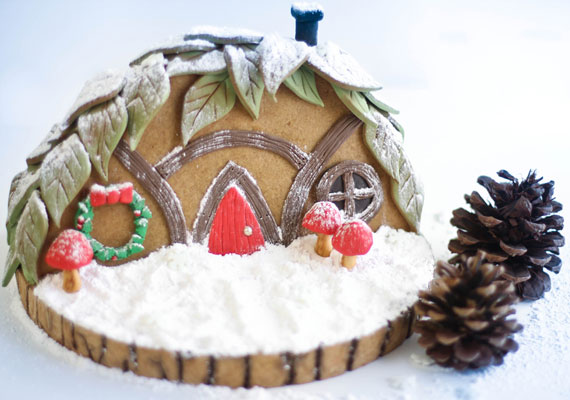 Gnome home gingerbread DIY from Heather Baird | cool mom picks