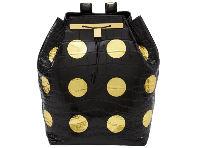 holiday gift: damien hirst gold spot bag | cool mom picks