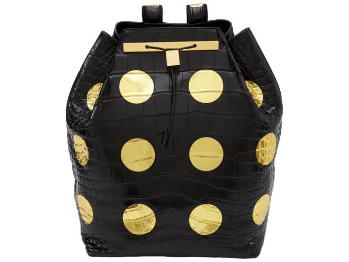 holiday gift: damien hirst gold spot bag | cool mom picks