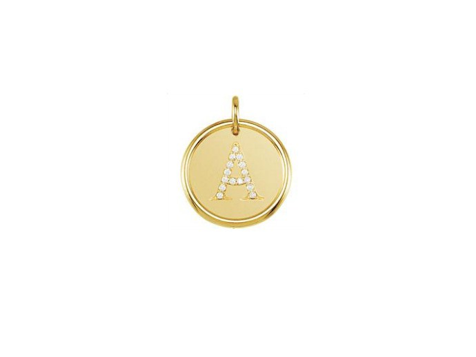 grandma gifts - gold initial charm | cool mom picks