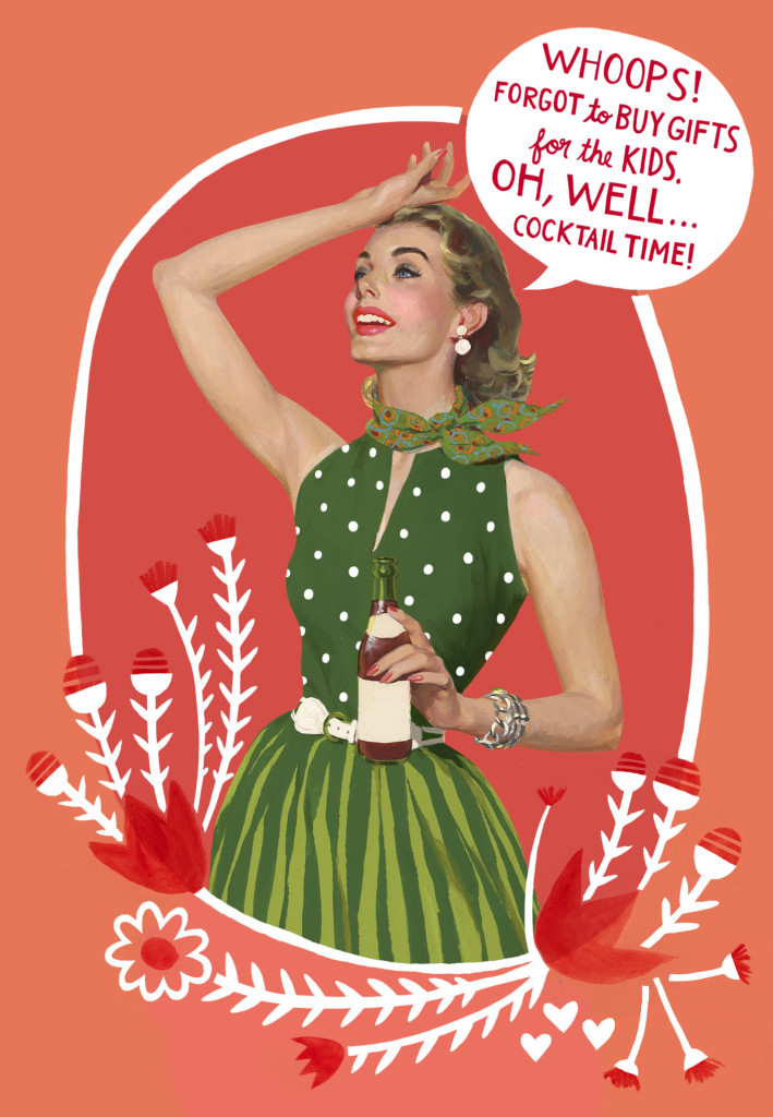 Hallmark cocktail time holiday card | Cool Mom Picks