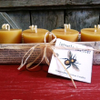 holiday gift: handmade beeswax candles