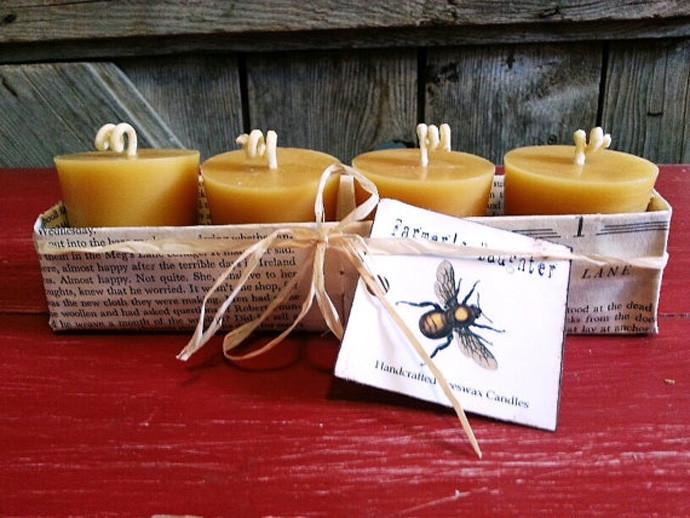 holiday gift: handmade beeswax candles | cool mom picks