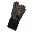 holiday gift: leather knit moto gloves
