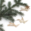 holiday gift: origami crane ornaments