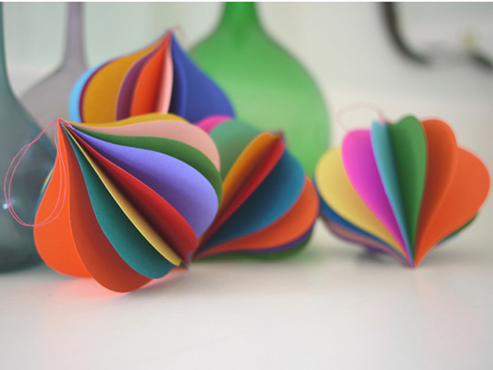 holiday gift: paper ornaments