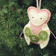 holiday gift: personalized owl ornament