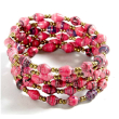 holiday gift: pink coil bracelet