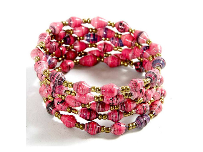 holiday gift: pink coil bracelet | cool mom picks