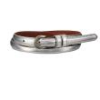 holiday gift: women's metallic silver belt