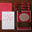 holiday gift: year in stitches calendar set