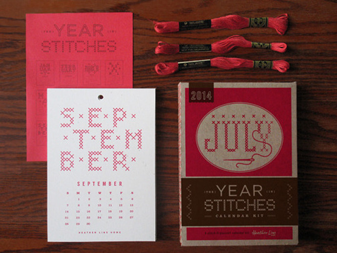 holiday gift: year in stitches calendar set | cool mom picks