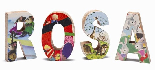 Children's Wooden Book Letters | Cool Mom PIcks