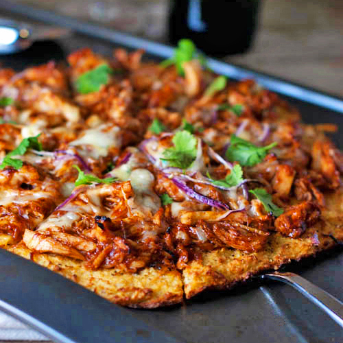 Light BBQ Chicken Pizza Recipe at Cool Mom Picks