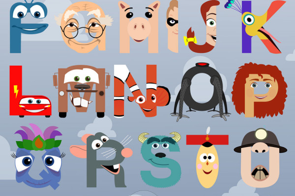 Pixar Alphabet by Mike Boon | Cool Mom Picks