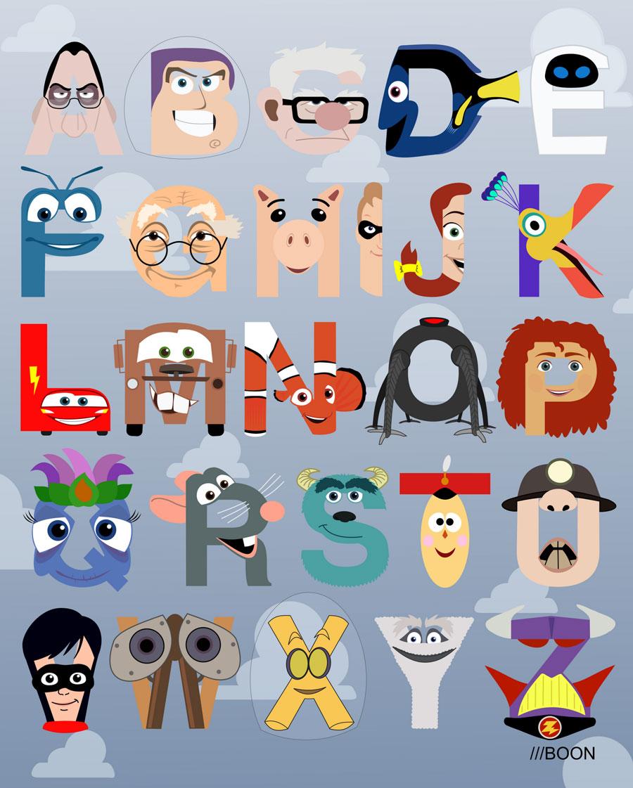Pixar Alphabet Poster | Cool Mom Picks