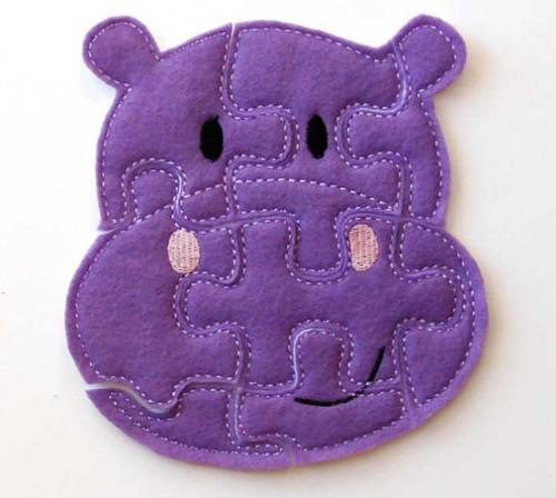 Eco-felt purple hippo puzzle | Cool Mom Picks
