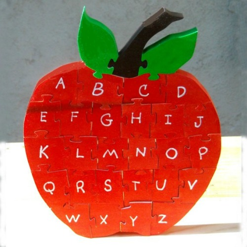 Apple alphabet puzzle | Cool Mom Picks