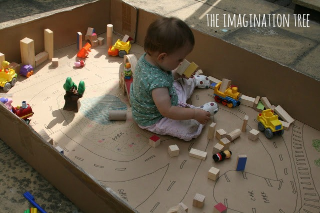 DIY Cardboard Toddler Play Area | Cool Mom Picks