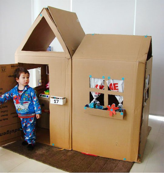 DIY cardboard box playhouse | Cool Mom Picks