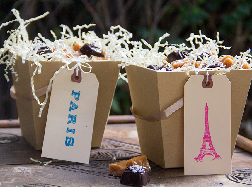 DIY Paris themed treat boxes at Moon Frye | Cool Mom Picks