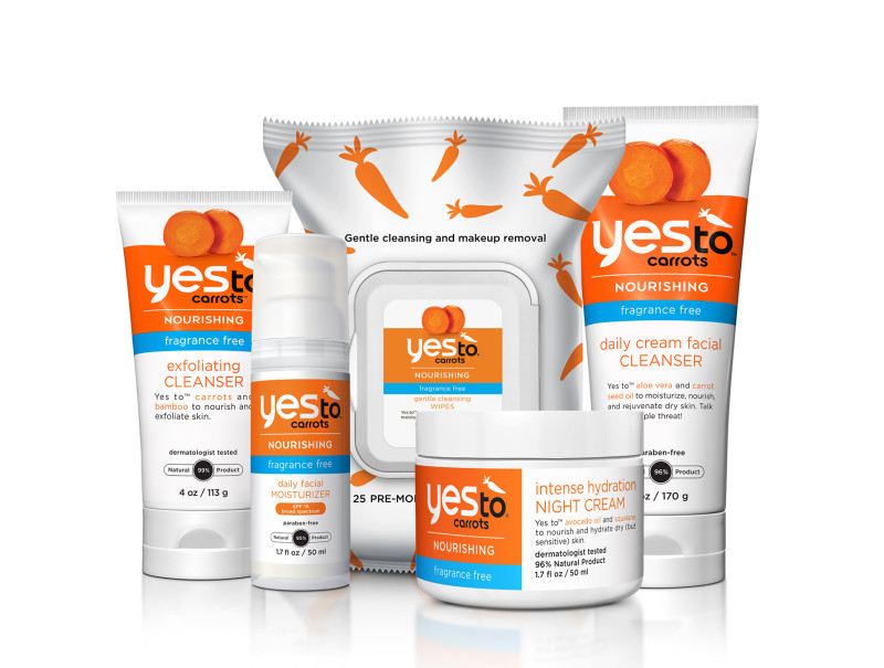 The new Yes to Carrots line is a delight for the fragrance-free fans among us