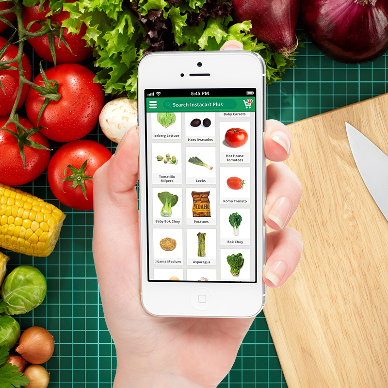 Instacart: Grocery shopping right from your couch with a very awesome twist.