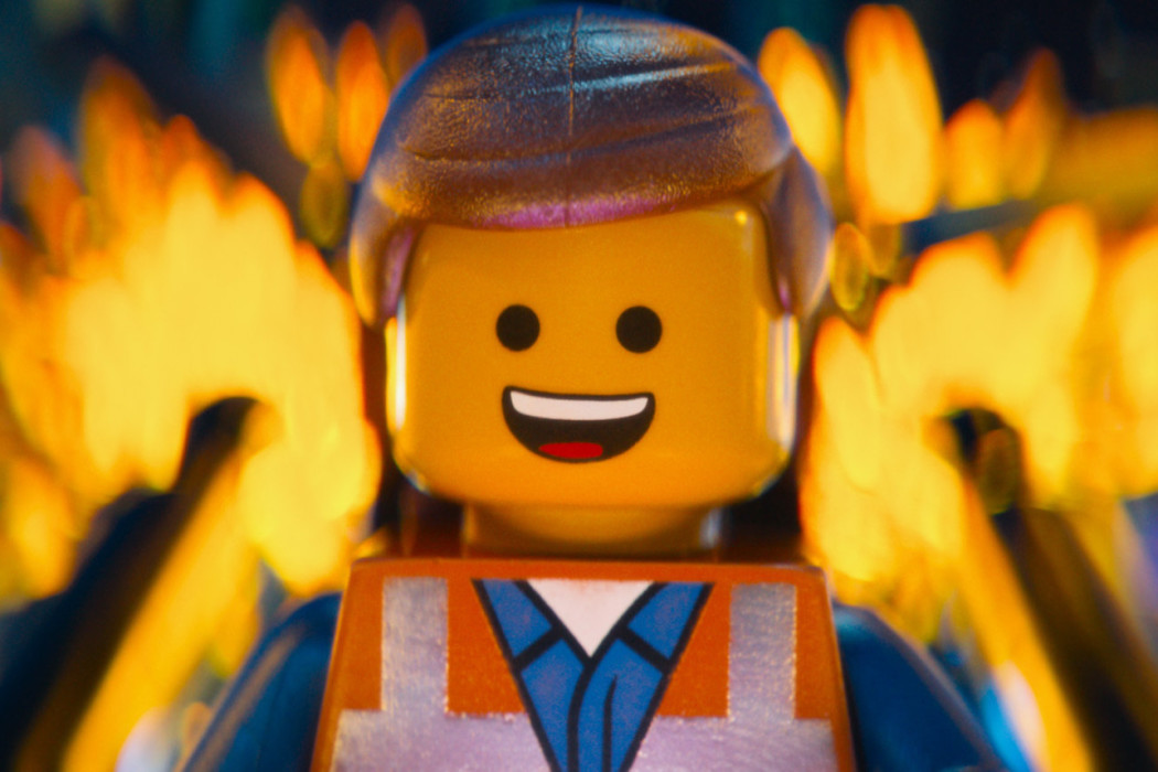 "Emmet from ""The Lego Movie"" starts the movie just living...