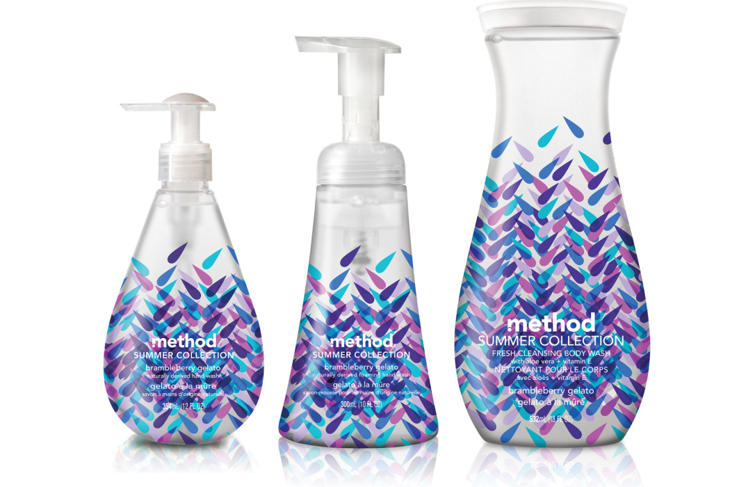 Method Brambleberry gelato hand and body soaps