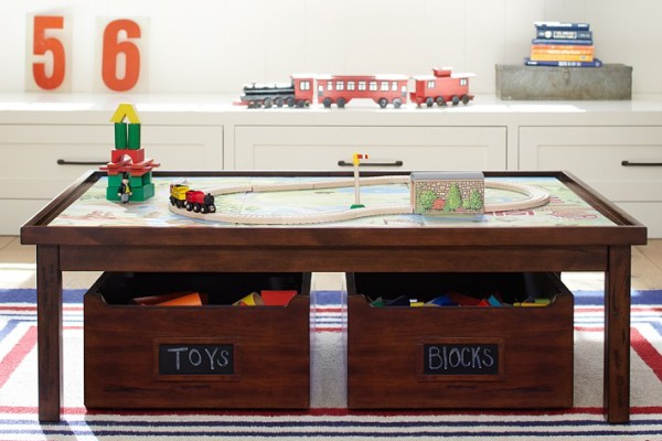 PBK kids' train table with storage | Cool Mom Picks