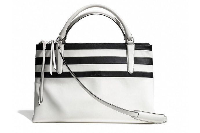 New Coach handbags: Striped Borough Bag | Cool Mom Picks