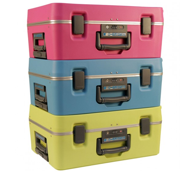 Colorful Carry On Luggage - F1 Cargo from Flight 001 | Cool Mom Picks