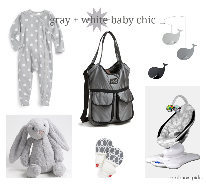 Gray and white baby gifts | Cool Mom Picks