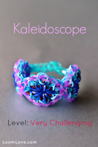 how to make kaleidoscope rainbow loom bracelet loomlove.com