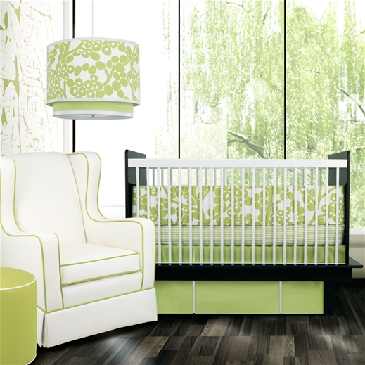 Oilo Green Crib Bedding at Layla Grace | Cool Mom Picks