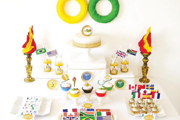 Olympics dessert table | Cool Mom PIcks