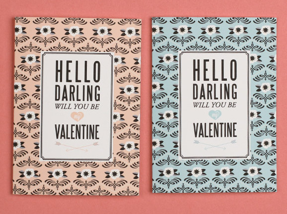 Sophisticated Hello Darling printable valentines | Cool Mom Picks