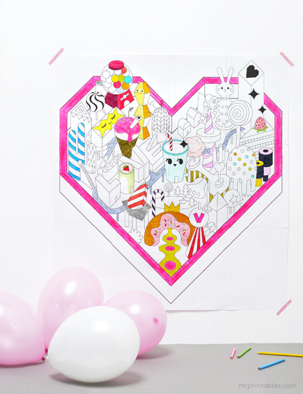 Valentine Candyland printable | Cool Mom Picks
