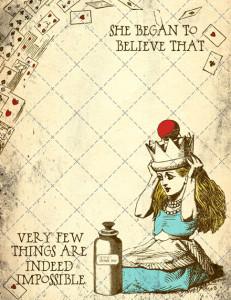 Alice in Wonderland printable page - Popstock Etsy | Cool Mom Picks
