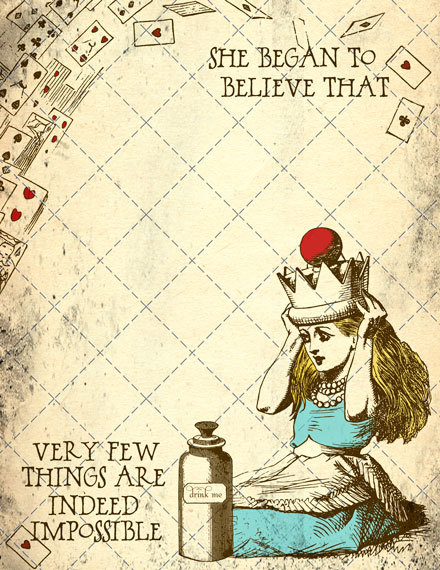 Alice in Wonderland printable page - Popstock Etsy | Cool Mom Picks