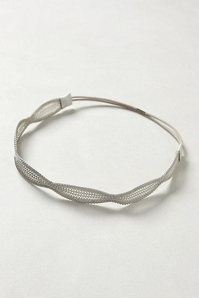 Avril Mesh Silver Headband- Anthropologie | Cool Mom Picks